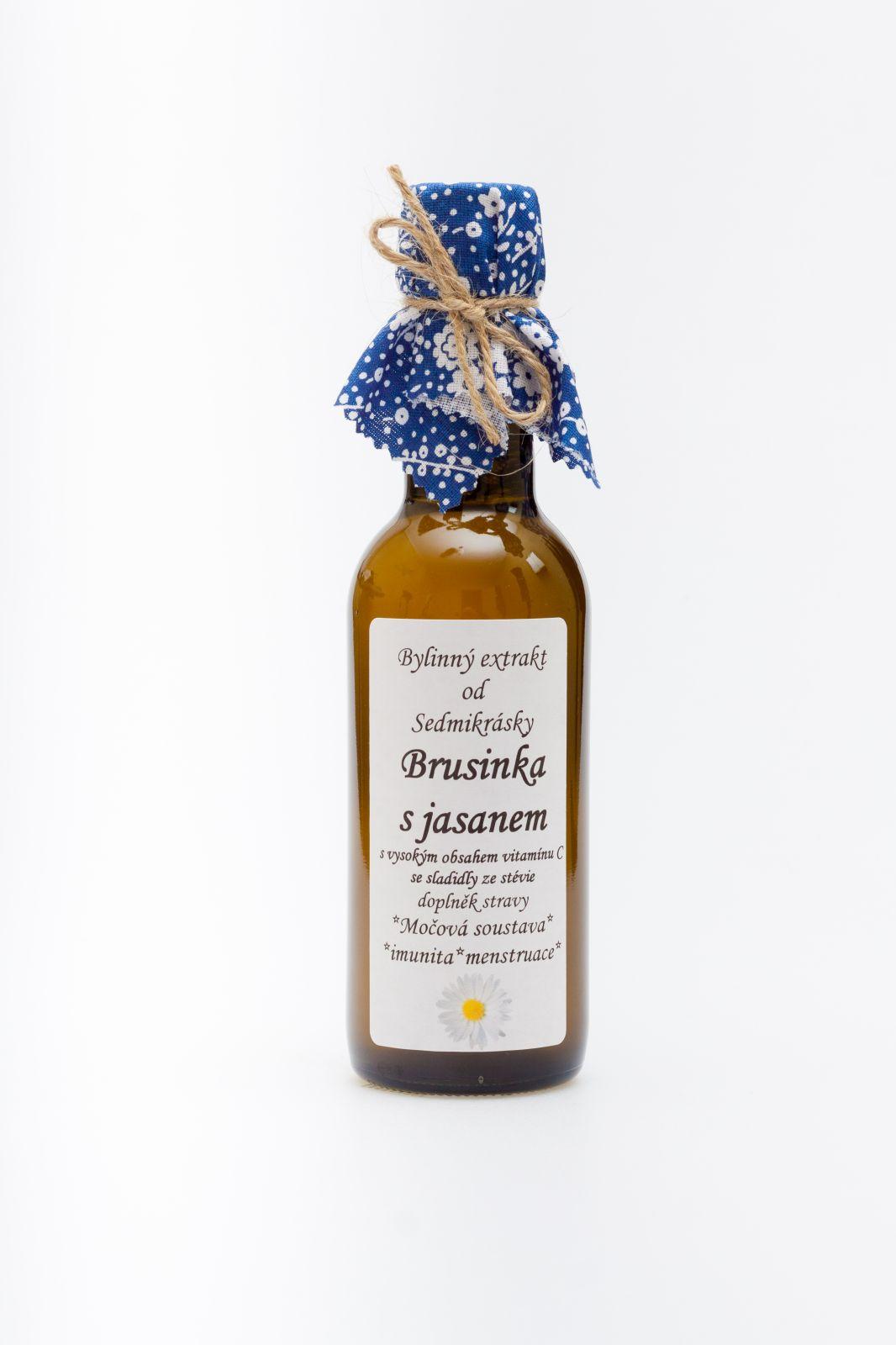 Sedmikráska bylinný extrakt Brusinka s jaseňom 250ml močová sústava, imunita, menštruácia Rodinná farma Sedmikráska
