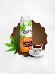 Cannabissimo - káva obsahuje 20% konopných semínek na 100 g konopné kávy.