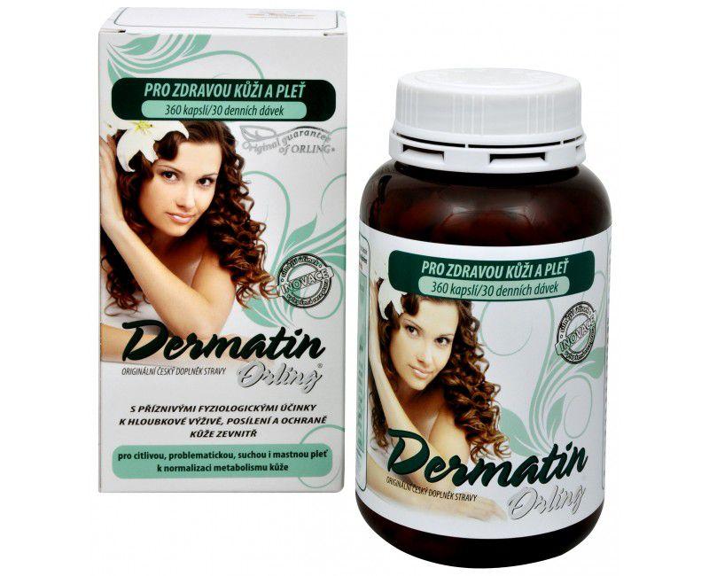 DERMATIN ORLING® - špecifická superkomplexná formula pre komplexnú výživu kože zvnútra ORLING s.r.o. Ústí nad Orlicí
