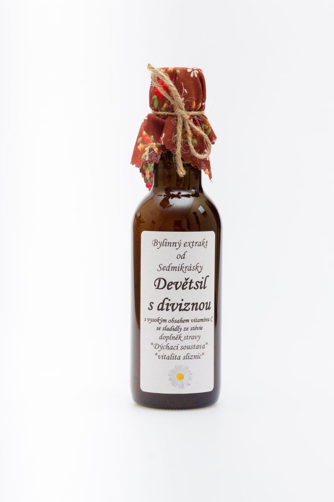 Sedmikráska bylinný extrakt Divizna 250ml dýchání trávení močové cesty doplněk stravy Rodinná farma Sedmikráska