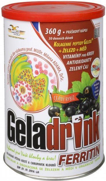 GELADRINK FERRITIN nápoj - únava, zvýšená potreba železa ORLING s.r.o. Ústí nad Orlicí