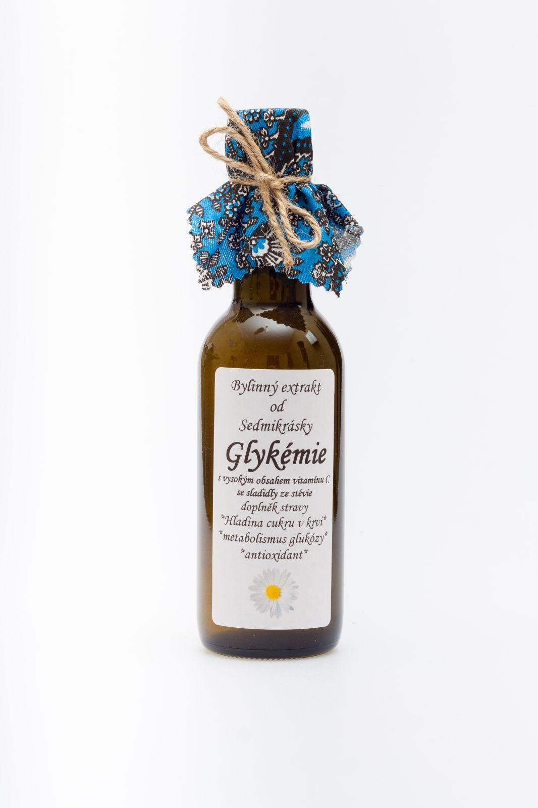 Sedmikráska bylinný extrakt Glykémia 250ml hladina cukru v krvi, metabolismus glukózy Rodinná farma Sedmikráska