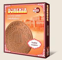 Kúpeľné oplátky BOHEMIA čokoládové sú vyrábané podľa tradičnej receptúry Bohemia speciality s.r.o.