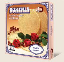 Kúpeľné oplátky BOHEMIA orieškové jsou výráběny dle tradiční receptury Bohemia speciality s.r.o.