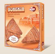 Bohemia Kúpeľné oplátky trojhránky čokoládové sú vyrábané podľa tradičnej receptúry Bohemia speciality s.r.o.