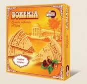 Kúpeľné oplátky BOHEMIA trojhránky orieškové jsou výráběny dle tradiční receptury Bohemia speciality s.r.o.