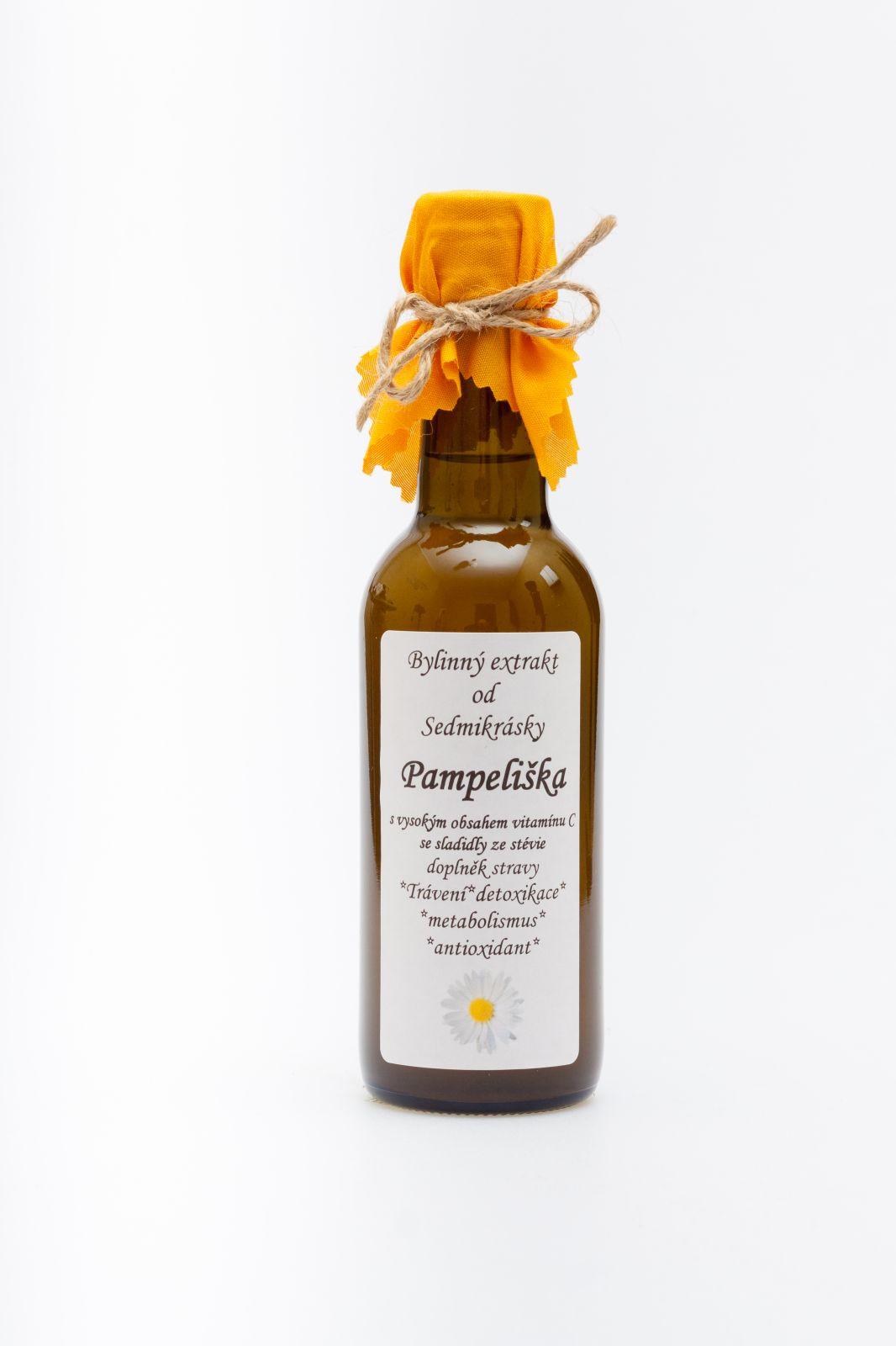 Sedmikráska bylinný extrakt Púpava 250ml trávení, energetický metabolismus, detoxikace, antioxidant doplněk stravy Rodinná farma Sedmikráska