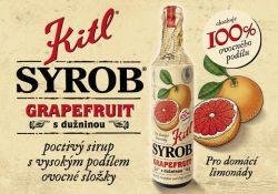 Kitl Syrob grapefruit s dužninou 500ml vynikající hustý sirup vyrobený z grapefruitové šťávy a grapefruitové dužniny.