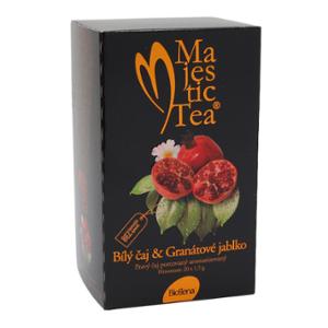 Biogena Majestic Tea Bílý čaj & Granátové jablko 20 x 2,5 g Bílý čaj aromatizovaný, porcovaný. Biogena CB s.r.o.