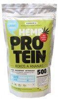Zelená země Konopný protein 500 g - kokos s ananasem