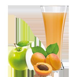 Ovocňák - mušt 100% jablko+marhuľa 250ml 80% jablečná šťáva a 20% meruňková šťáva