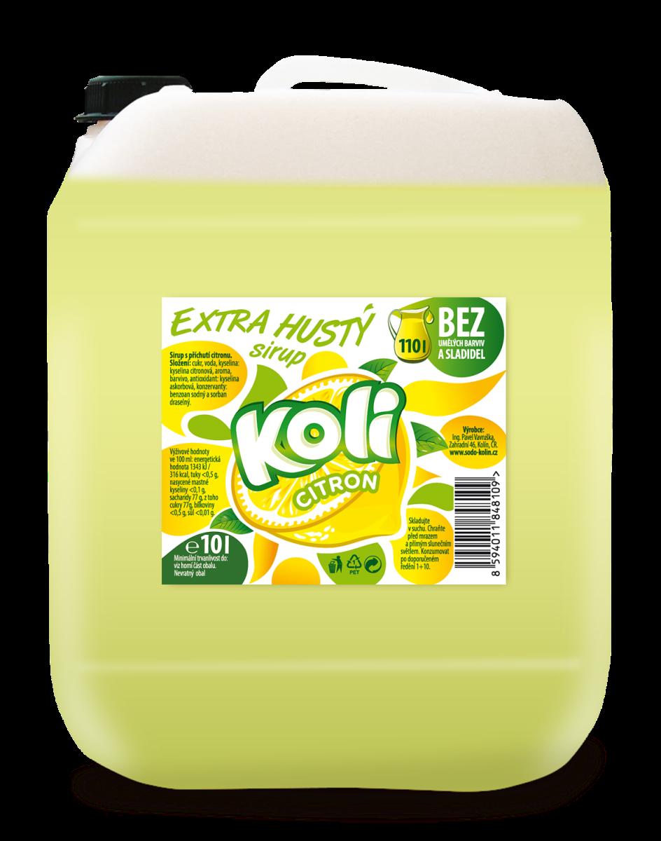 Koli sirup EXTRA hustý 10lt citron limonáda, která vás vždy osvěží. Sodovkárna Kolín