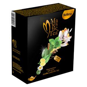 Biogena Majestic Duopack 2 x 20 sáčků. Zelený a černý aromatizovaný čaj, porcovaný Biogena CB s.r.o.