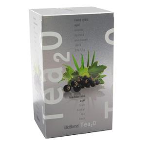 Biogena Tea2O Černý rybíz & Acai 20x2,5 g Ovocný čaj aromatizovaný, porcovaný. Biogena CB s.r.o.