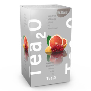 Biogena Tea2O Grep & Schizandra 20x1,7g Ovocný čaj aromatizovaný, porcovaný. Biogena CB s.r.o.