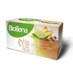 Biogena Fantastic Zázvor & Limetka 20x2,0g Ovocný čaj aromatizovaný, porcovaný. Biogena CB s.r.o.