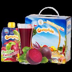 Ovocňák - Mošt 100% jablko+červená řepa 200 ml čistě přírodní produkty z ovoce a zeleniny, bez konzervantů, sladidel, barviv, jen 100% ovoce