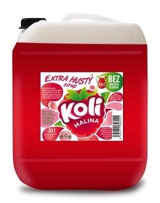 Koli sirup EXTRA hustý 10lt malina. Tradiční malinovka Koli s jedinečnou zapamatovatelnou chutí. Sodovkárna Kolín