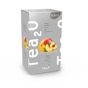 Biogena Tea2O Mango & Broskev 20x2,3g. Ovocný čaj, aromatizovaný, porcovaný. Biogena CB s.r.o.