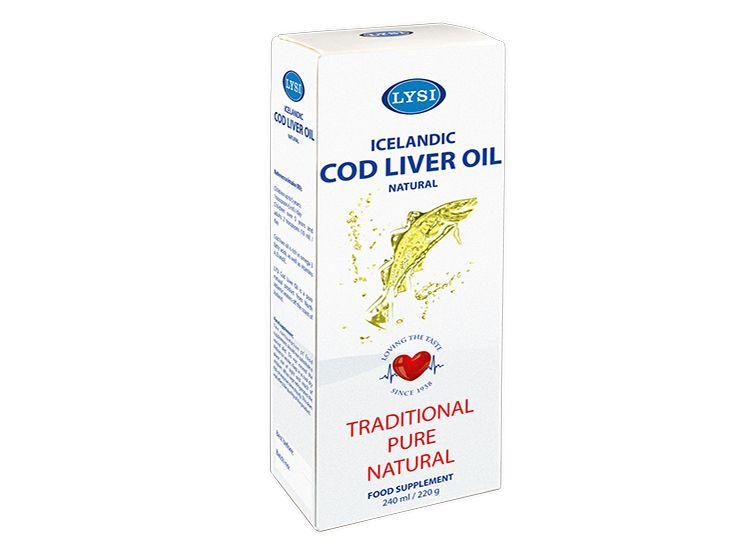 Lýsi - Olej z tresčích jater s citronovu příchutí 240 ml doplněk stravy