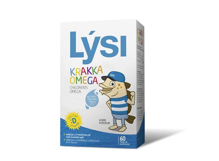 Rybí olej Lýsi - Omega 3 + D pro děti 60 cps - Želatinové žvýkací kapsle s příjemnou ovocnou chutí obsahují rybí olej. Produkt je vyvinut speciálně pro děti.