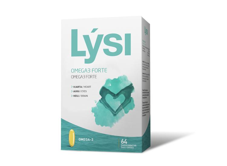 Lýsi - OMEGA-3 FORTE 64 cps - Omega-3 Forte, doplněk stravy, EE 33/22 (33 % EPA a 22 % DHA) v 1000 mg kapslích.