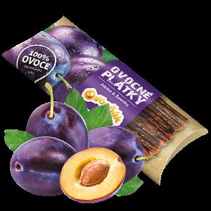 Ovocňák - Ovocné plátky - Jablko švestka 20g jablečná dřen švestková dřeň