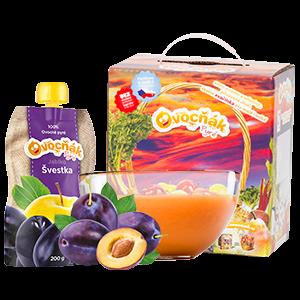 Ovocňák - Pyré Jablko - švestka 200 ml 70% jablečné dřeně, 30% švestkové dřeně