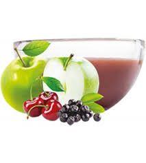 Ovocňák - Pyré Jablko - - višeň, arónie 200 ml 80% jablečné, 10% višňové, 10% aroniové dřeně