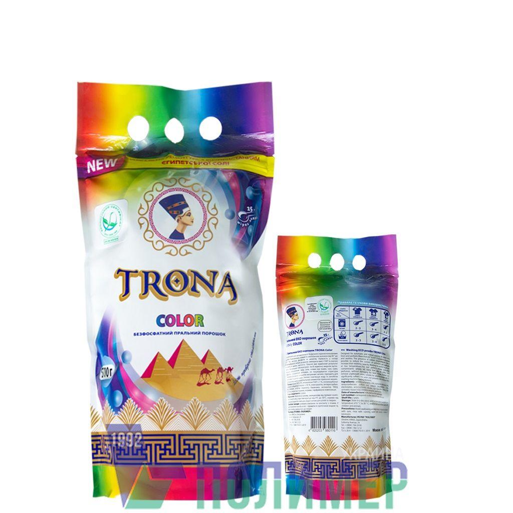 Trona prací prášok Color 0,5kg - univerzálny bezfosfátový prací prášok na farebnú bielizeň. Polymer Ukrajina