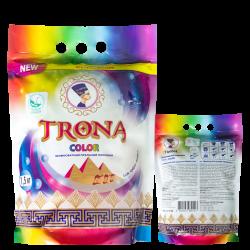Trona prací prášok Color 1,0kg - univerzálny bezfosfátový prací prášok na farebnú bielizeň. Polymer Ukrajina