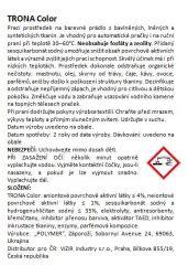 Trona prací prášok Color 1,5kg - univerzálny bezfosfátový prací prášok na farebnú bielizeň. Polymer Ukrajina