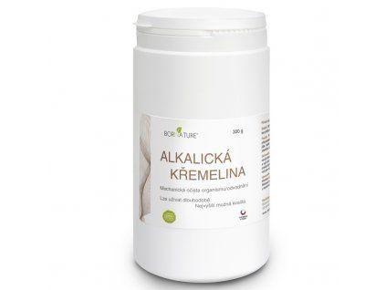 Bornature Alkalická kremelina 500 g mechanický detox tráviaceho traktu a odvodnenie a doplnenie kremíka - skvelé pre ľudí so zlým či vloženým cievnym systémom