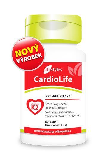 CardioLife 60 kapsúl - Kombinácia vitamínu K2 (MK7), extraktu z hlohu, vitamínov B6, B12 a kyseliny listovej - doplnok stravy Lifestyles