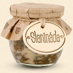 Chuť Moravy - Slanináda - predstavte s džem, ktorý je tak akurát sladký, ale zároveň aj slaný, málinko pikantná, voňavý po korenia a kúskoch vypečenej slaniny. 200 ml