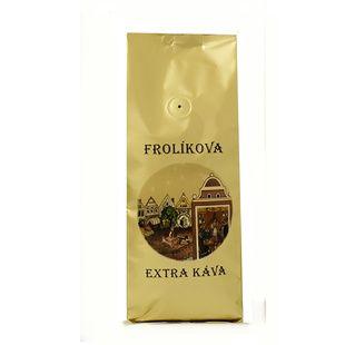 Frolíková Extra káva 500g zrnková - Jedná sa o 100% Arabicu zo Strednej Ameriky a Áz Jan Frolík - Pražírna kávy